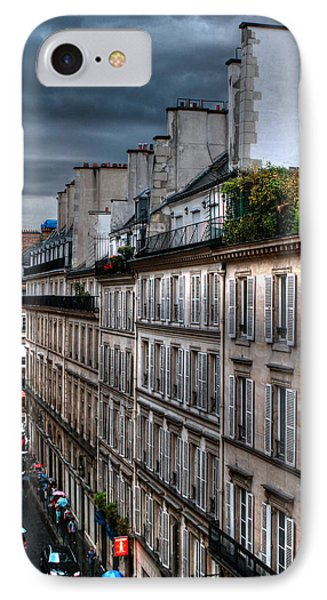 Autumn Rain Paris France IPhone Case by Tom Prendergast
