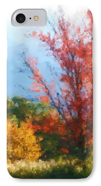 Autumn Red And Yellow Phone Case by Smilin Eyes  Treasures