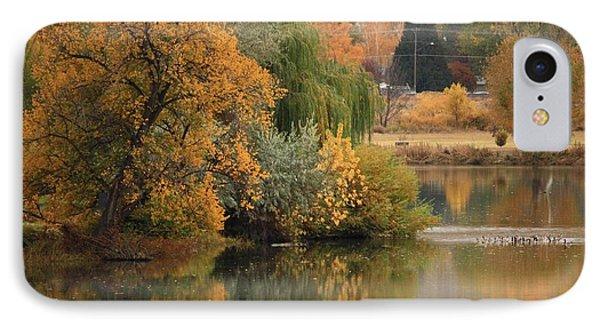 Autumn Reflection 41 IPhone Case by Carol Groenen