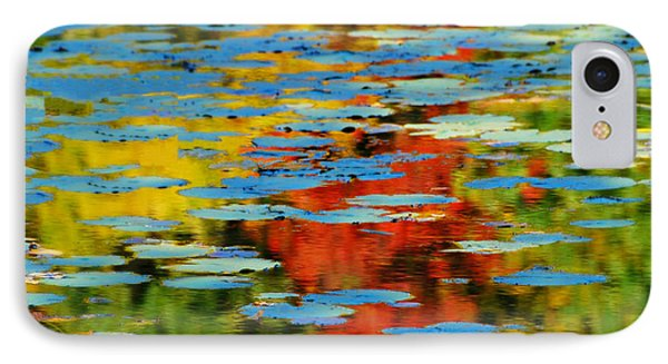 IPhone Case featuring the photograph Autumn Lily Pads by Diana Angstadt
