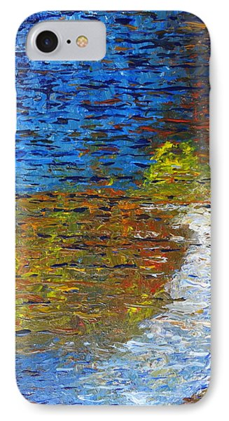IPhone Case featuring the painting Autumn Reflection by Jacqueline Athmann