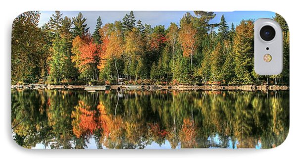 IPhone Case featuring the photograph Autumn Reflections Of Maine by Shelley Neff