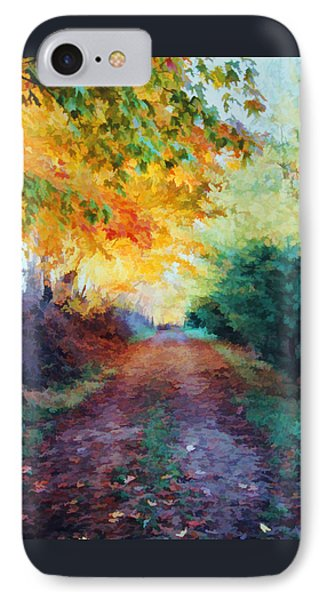 IPhone Case featuring the photograph Autumn Road by Diane Alexander