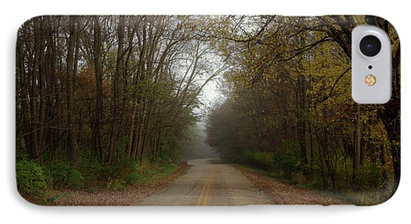 Autumn Road IPhone Case by Inspired Arts