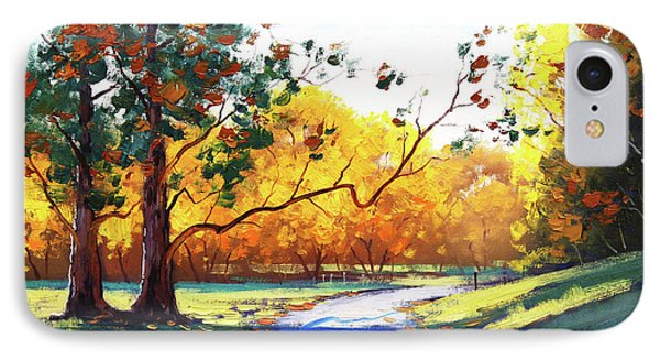Autumn Road Mt Wilson IPhone Case
