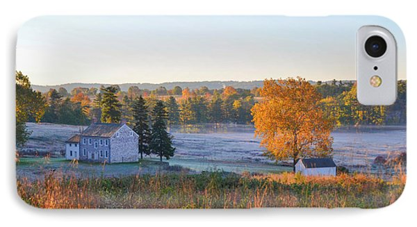 Autumn Scene - Valley Forge Pa IPhone Case by Bill Cannon