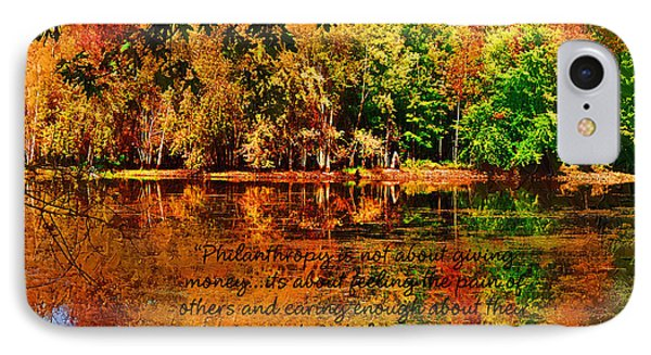 IPhone Case featuring the painting Autumn Serenity Philanthropy Painted by Diane E Berry