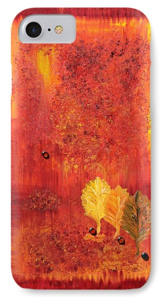 IPhone Case featuring the painting Autumn by Sladjana Lazarevic