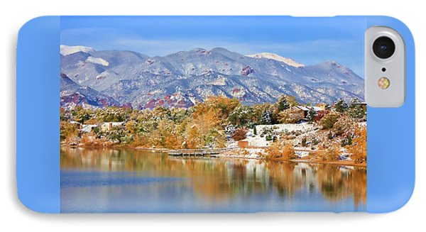 IPhone Case featuring the photograph Autumn Snow At The Lake by Diane Alexander