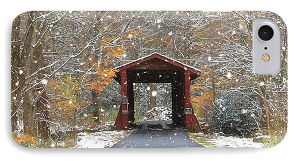 Autumn Snow IPhone Case by Benanne Stiens