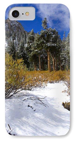Autumn Snow Phone Case by Chris Brannen