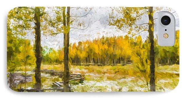 Autumn Snow Fall II IPhone Case