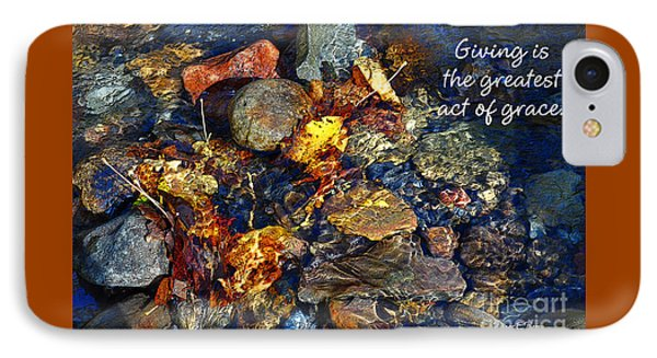 IPhone Case featuring the drawing Autumn Splash Grace by Diane E Berry