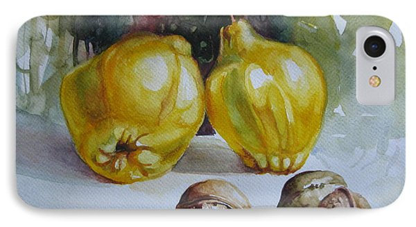 IPhone Case featuring the painting Autumn Still Life 2 by Elena Oleniuc