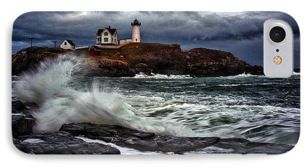 Autumn Storm At Cape Neddick Phone Case by Rick Berk