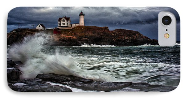 Autumn Storm At Cape Neddick IPhone Case by Rick Berk