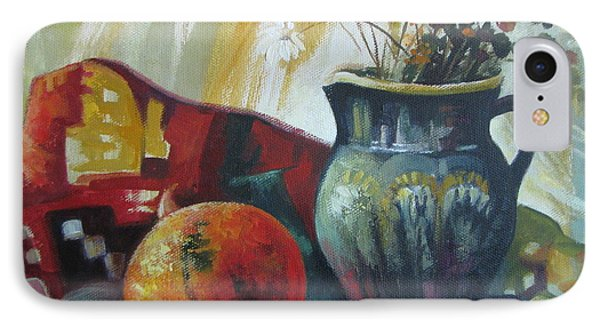 IPhone Case featuring the painting Autumn Story by Elena Oleniuc