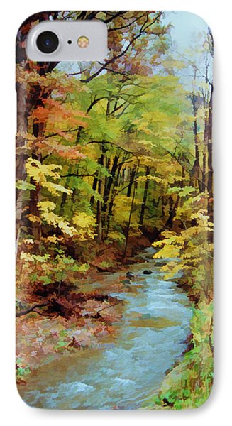IPhone Case featuring the photograph Autumn Stream by Diane Alexander