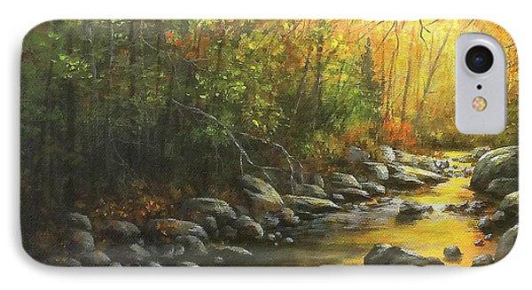 Autumn Stream IPhone Case by Kim Lockman
