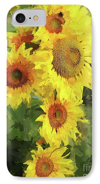 Autumn Sunflowers IPhone Case by Tina LeCour