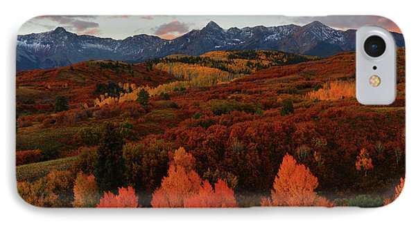 IPhone Case featuring the photograph Autumn Sunrise At Dallas Divide In Colorado by Jetson Nguyen