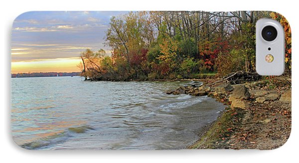 Autumn Sunset IPhone Case by Angela Murdock