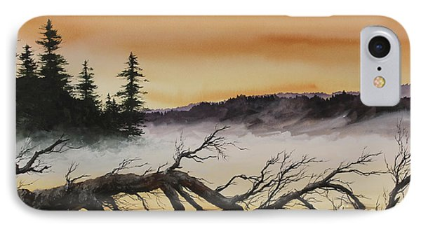 IPhone Case featuring the painting Autumn Sunset Mist by James Williamson