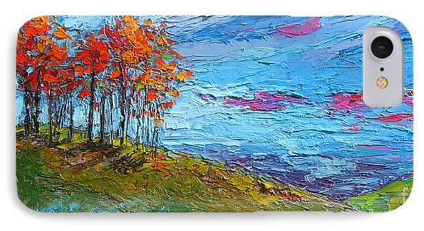 Autumn Sunset - Modern Impressionist Palette Knife Oil Painting IPhone 7 Case