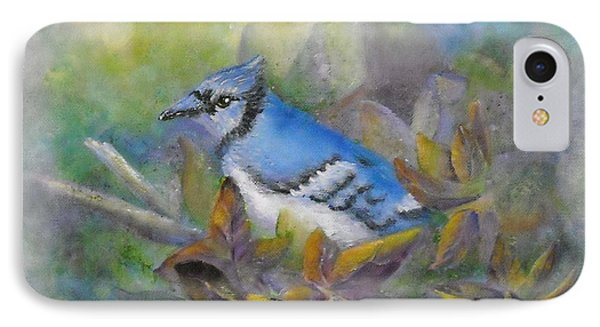 Autumn Sweet Gum With Blue Jay Phone Case by Sheri Hubbard