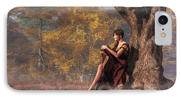 IPhone Case featuring the digital art Autumn Thoughts by Daniel Eskridge
