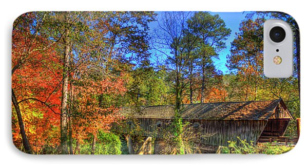 Autumn Time Concord Covered Bridge Art IPhone Case by Reid Callaway