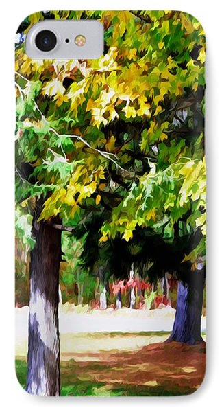 Autumn Trees 7 Phone Case by Lanjee Chee