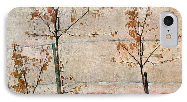 Autumn Trees Phone Case by Egon Schiele