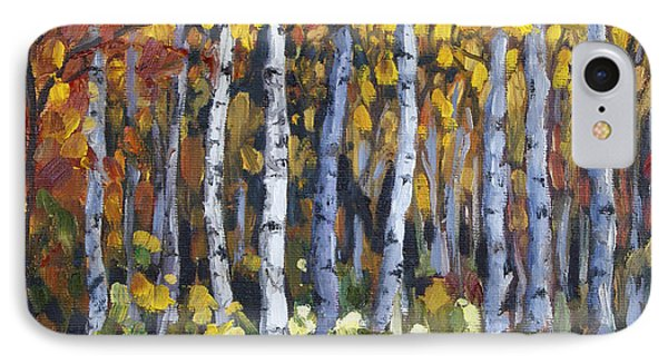 IPhone Case featuring the painting Autumn Trees by Jennifer Beaudet