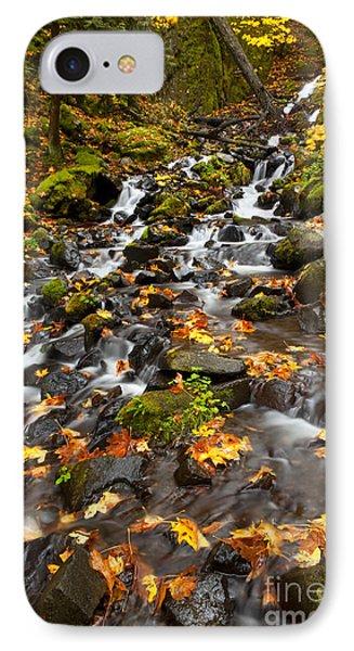 Autumn Tumbles Down Phone Case by Mike  Dawson