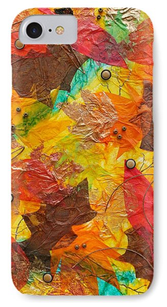 Autumn Leaves Underfoot IPhone Case by Michele Myers