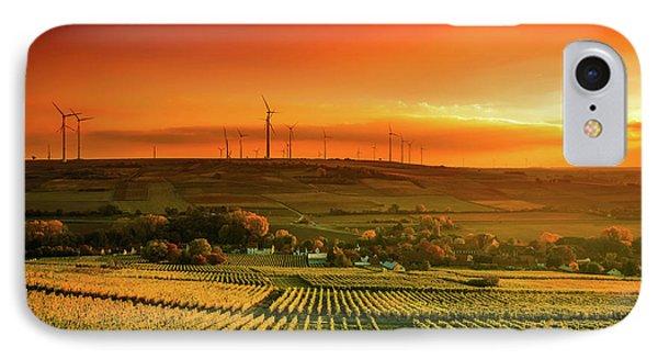 Autumn Vineyards Sunset IPhone Case by Unsplash - Karsten Wurth
