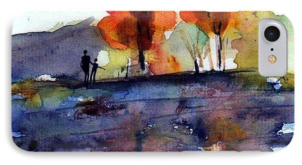 Autumn Walk Phone Case by Anne Duke