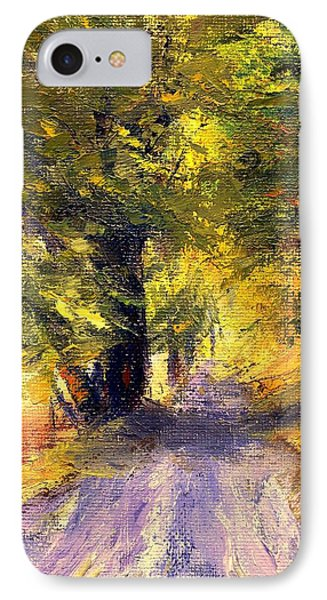 IPhone Case featuring the painting Autumn Walk by Gail Kirtz