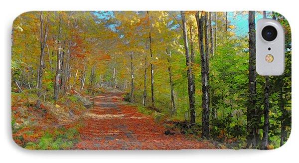 Autumn Walk IPhone Case by John Selmer Sr