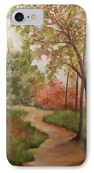 IPhone Case featuring the painting Autumn Walk by Roseann Gilmore