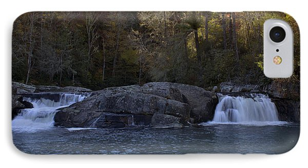 IPhone Case featuring the photograph Autumn Waterfall  by Ellen Heaverlo
