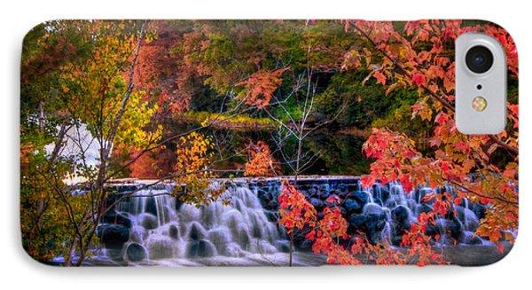 Autumn Waterfall - New England Fall Foliage IPhone Case