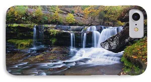 IPhone Case featuring the photograph Autumn Waterfall by Steve Stuller