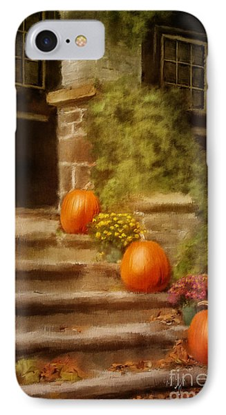 Autumn Welcome IPhone Case by Lois Bryan