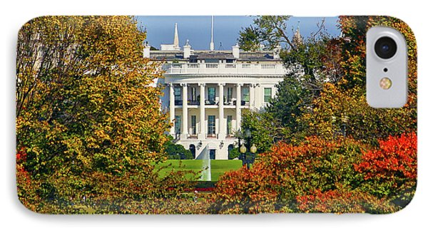 IPhone Case featuring the photograph Autumn White House by Mitch Cat
