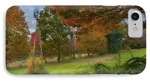IPhone 7 Case featuring the photograph Autumn Windmill by Bill Wakeley