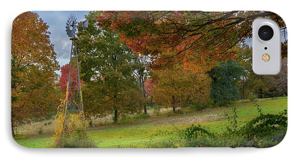 IPhone Case featuring the photograph Autumn Windmill by Bill Wakeley