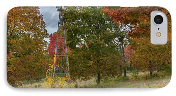 IPhone 7 Case featuring the photograph Autumn Windmill Square by Bill Wakeley