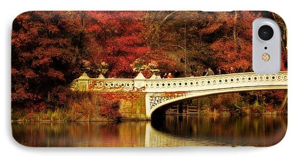Autumnal Bow Bridge  IPhone Case by Jessica Jenney